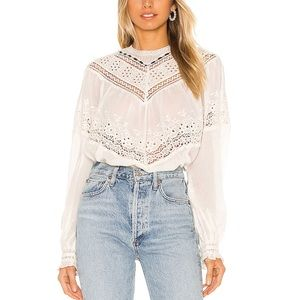 Free People abigail victorian white top